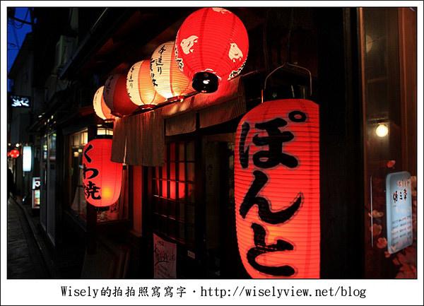 【隨拍】2011關西(京阪神)-14:京都先斗町通光影交錯之花街 (Canon EOS 5D2)