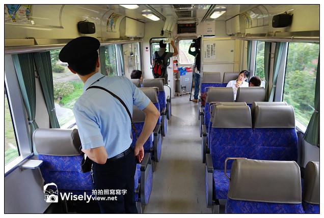 【旅行】日本。鳥取縣:若櫻鐵道@在手動旋轉台上調頭的蒸氣火車