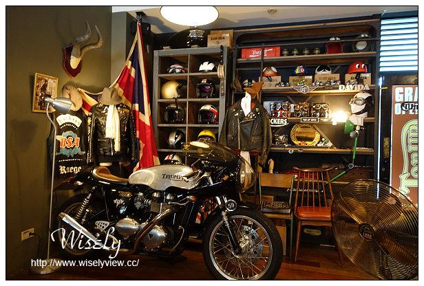 【食記】台北市。中山區:Ton Up Café@60's年代英式重型機車復古主題餐廳