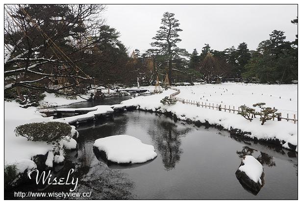【旅行】日本。石川縣(金澤市):金澤兼六園@日本三大名園之一,特色唐崎松雪吊美景