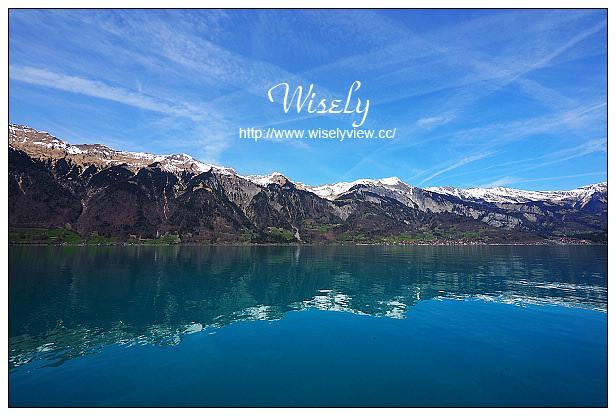 【旅行】歐洲。瑞士:因特拉肯(Interlaken)自由行_Day05@圖恩湖(Lake Thun)巴士漫遊,乘船遊玩布里恩茨湖(Lake Brienz)/Grandhotel Giessbach、Iseltwald,維多利亞少女峰溫泉大酒店(SPA泳池),Schuh瑞士火鍋三吃