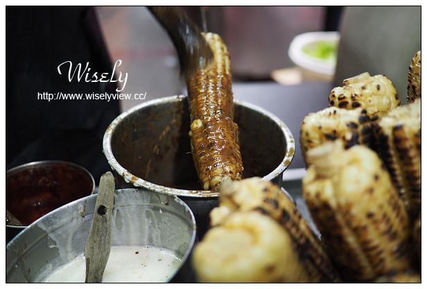 【食記】台北市。大安區:師大夜市美食@水柳伯烤玉米~捷運台電大樓站美食