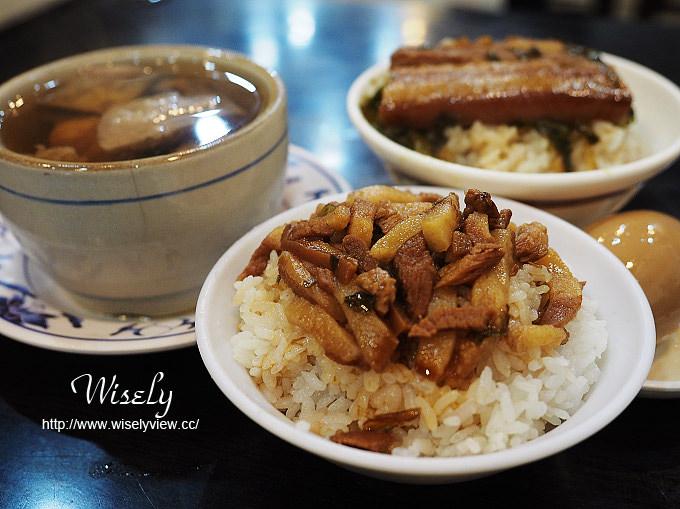 【食記】台北大同。捷運大橋頭站:延三夜市美食@大橋頭魯肉飯~焢肉飯&排骨湯