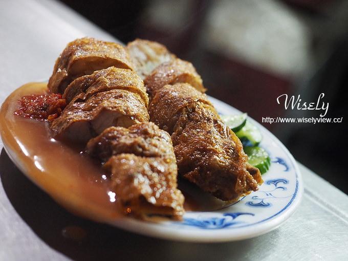 【食記】台北大同。捷運大橋頭站:延三夜市美食@葉家五香雞捲~真材食料的排隊小吃