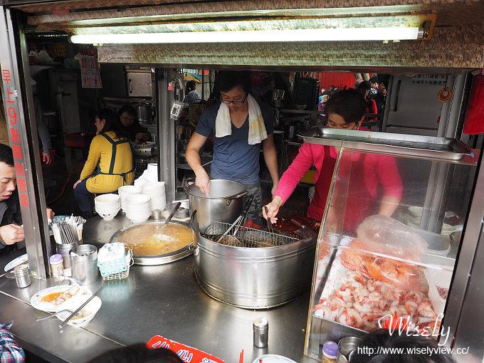 【食記】台北大同。捷運大橋頭站:大稻埕慈聖宮美食@葉家肉粥 & 炸物(紅燒肉、炸豬肝)