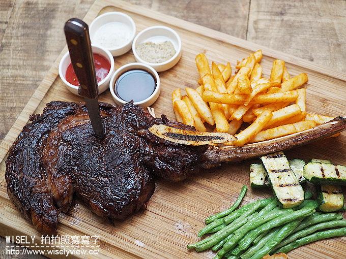 【食記】台北中山。捷運圓山站:Butcher's Kitchen肉鋪廚房牛排館(花博店)@慢煎的戰斧牛排