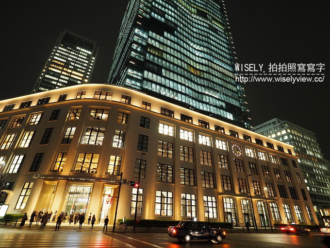 【旅行】日本。東京車站夜間景觀最佳地點。KITTE購物中心@東京駅旁郵局改建大樓