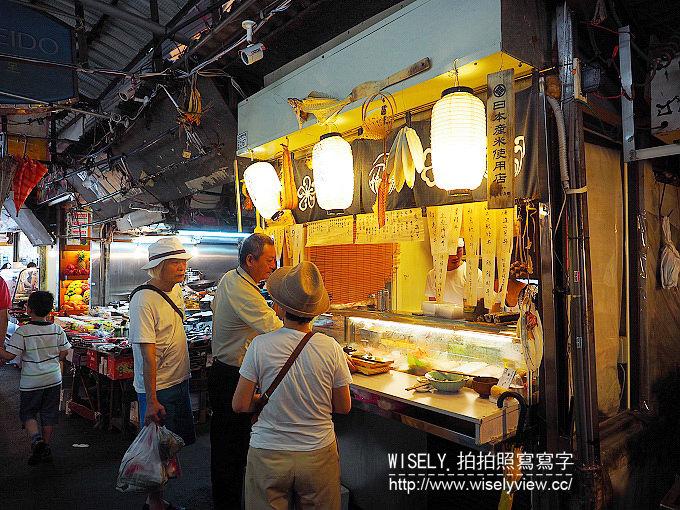 《台北中正區/捷運淡水信義線/東門站美食》魚バカ壽司屋@位於東門市場裡的一坪立食壽司