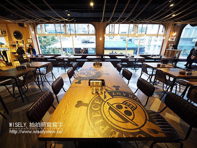 《台北大安區。板南線。捷運忠孝敦化站美食》台灣航海王餐廳 ONE PIECE Restaurant:海外第一家主題餐廳,可見真人比例大小草帽海賊團與作者手繪草稿