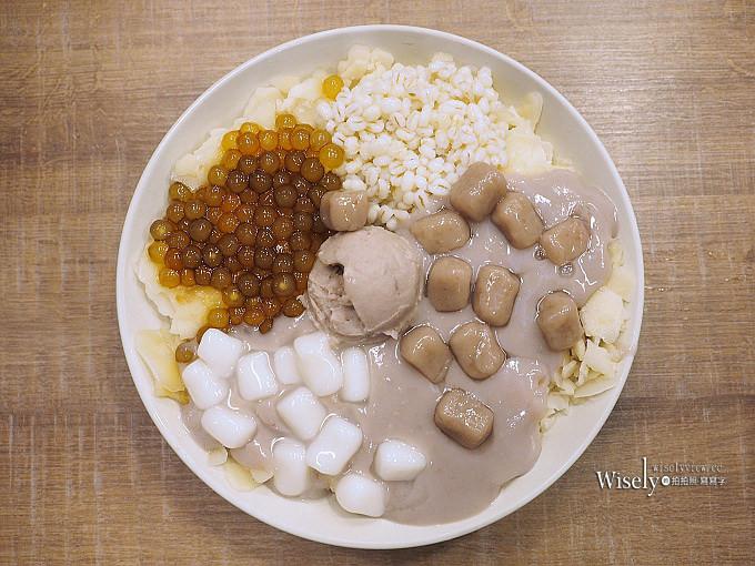 《新北永和。捷運頂溪站美食》阿爸の芋圓/阿爸的芋圓(樂華夜市)@芋見泥綜合蔗片冰