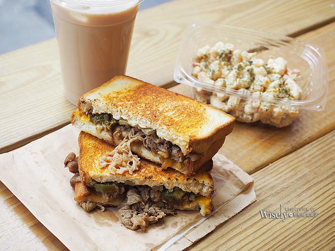 《台北大安。捷運國父紀念館站美食》格里歐's三明治@墨西哥費城牛肉三明治,附餐味道也佳