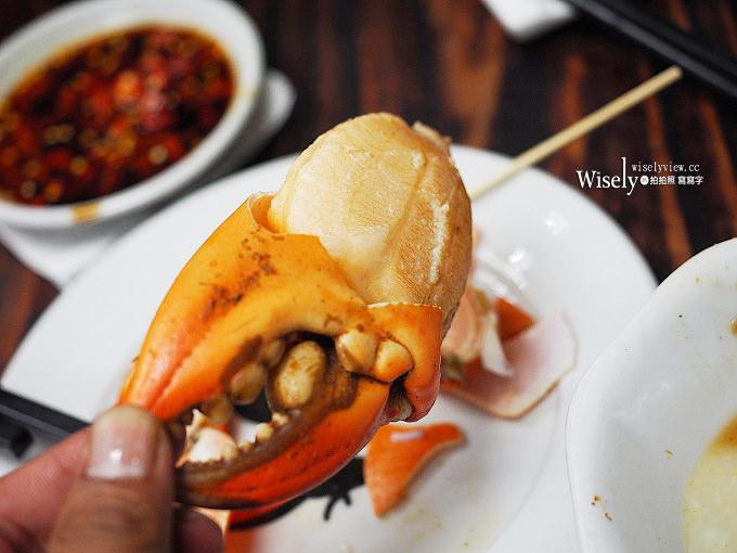 《澳門美食。新馬路》水佬榮海鮮火鍋飯店:香辣花甲蟹鍋,還有美味金沙蝦與水蟹粥