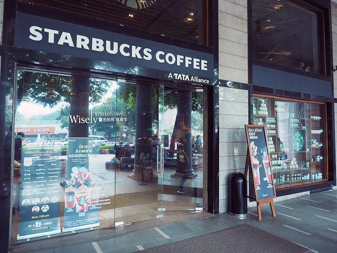 《印度新德里。康諾特廣場》星巴克咖啡:特色印度風設計裝潢,必買紀念品伴手禮印度杯分享