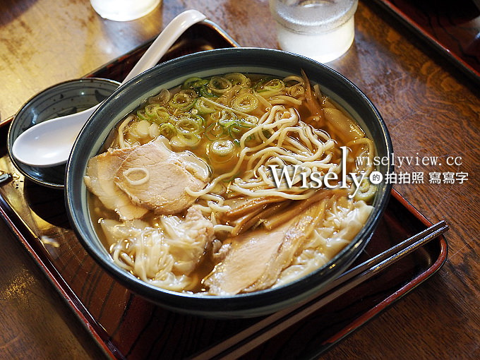 《日本山形。庄內美食》酒田拉麵滿月:魚介醬油湯頭搭配薄嫩餛飩,在地排隊美食