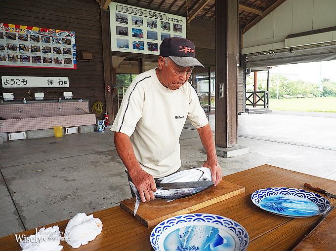 《日本四國。高知美食》黑潮一番館/鰹魚半敲燒(鰹のたたき):製作體驗土佐稻草燒鰹魚料理
