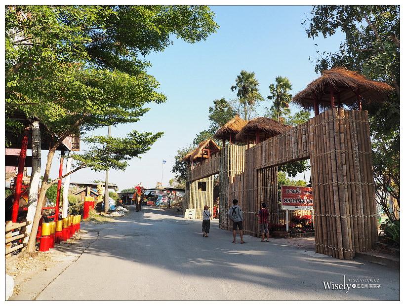 《泰國景點。大城水上市場》Ayutthaya Floating Market:泰國風情閒散遊,漫步消磨時間好去處