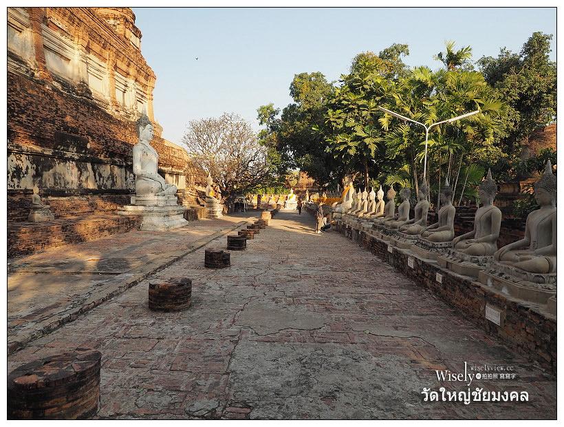 《大城景點。崖差蒙空寺/Wat Yai Chaiyamongkhon》最古老完整的臥佛寶塔古蹟