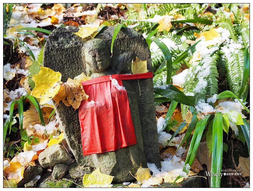 《日本山形。山寺立石寺至奧之院》俳句世界中,秋冬之交的霜雪紅葉美景