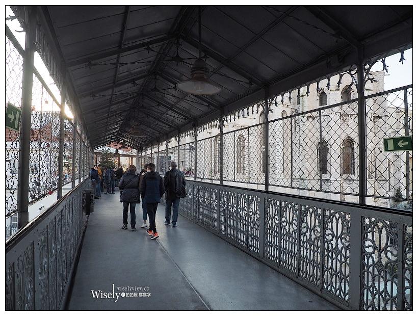 葡萄牙。里斯本景點:聖胡斯塔電梯/Elevador de Santa Justa︱鑄鐵結構歌德式電梯,360度環境俯瞰城市最佳位置