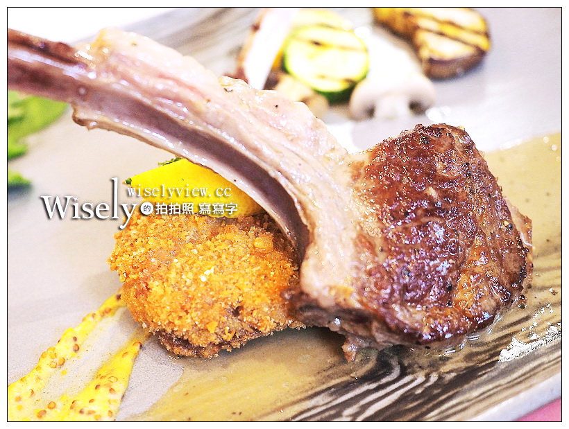 美國超鑽級羊肉。雙味美國法式羊排套餐︱台北美福飯店GMT義法餐廳新料理~軟嫩多汁無羶味,營養成份高,老饕的最愛